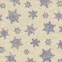 snowflake tapestry blue sheet