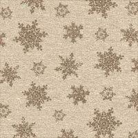 snowflake tapestry brown sheet