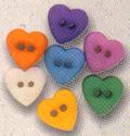 KF Pastel Mini Heart Buttons