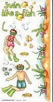 Bo Bunny Stickers-Swim Like a Fish