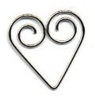 Details shaped clips-hearts