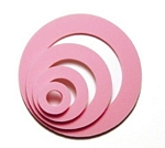 Bubblegum pink circle shaker