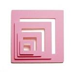 pink circle shaker shapes