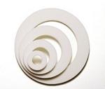 white circle shaker shapes