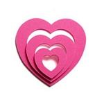 hot pink heart shaker