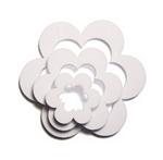 white flower shaker shapes